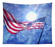 The Sun And The Flag Tapestry