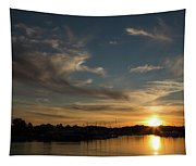 The Sun Sets In Milford Tapestry
