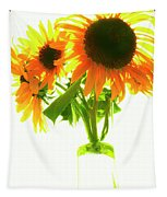 The Sunflowers In A Glass Vase. Tapestry