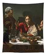 The Supper At Emmaus Tapestry by Caravaggio