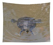 The Swimming Turtle Tapestry