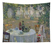 The Table In The Sun In The Garden Tapestry