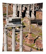 The Temple Of Castor And Pollux At The Forum From The Palatine Tapestry