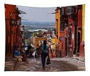 The Top Of Calle Umaran Tapestry