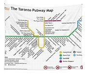 The Toronto Pubway Map Tapestry