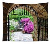 The Tower's Garden Door Tapestry
