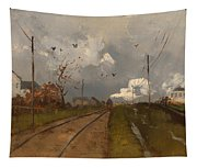 The Train Is Arriving Tapestry