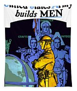 The United States Army Builds Men Tapestry