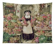 The Vegetable Stall  Tapestry