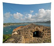 The View From Fort Rodney On Pigeon Island Gros Islet Caribbean Tapestry