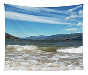 The View From Okanagan Beach Tapestry