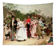 The Village Wedding Tapestry