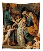 The Virgin Adorned With Flowers Tapestry