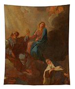 The Virgin Placing St Teresa Under The Protection Of St Joseph Tapestry