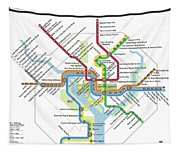 The Washington, D. C. Pubway Map Tapestry
