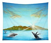 The Whales Of Maui Tapestry