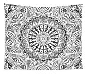 The White Mandala No. 3 Tapestry