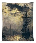 The Windmills In Rotterdam Tapestry by Johan Barthold Jongkind