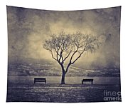The Winter And The Benches Tapestry