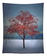 The Winter Berries Tapestry