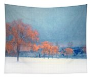 The Winter Blues Tapestry