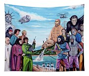 The World Of The Planet Of The Apes Tapestry