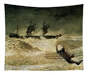 The Wreck Of The Iron Cloud, 1881 Tapestry