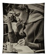 The Writer Candid Shot Venice_dsc1374_02282017 Tapestry