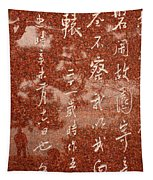 The Writings Of Lu Xun With Reflection Of Man Tapestry