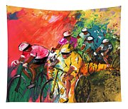The Yellow River Of The Tour De France Tapestry