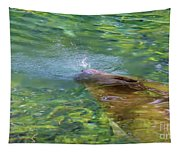There She Blows Manatee Tapestry