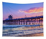 There Will Be Another One - San Clemente Pier Sunset Tapestry
