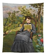 Therese Reading In The Park Of Meric Tapestry