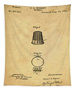 Thimble Patent 1891 In Sepia Tapestry