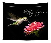 Thinking Of You Hummingbird Greeting Card Tapestry