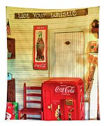 Thirst-quencher Old Coke Machine Tapestry
