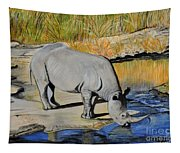 Thirsty Rhino Tapestry
