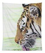 Thirsty Tiger Tapestry