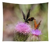 Thistle Pollinators - Large And Small Tapestry
