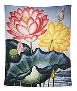 Thornton: Lotus Flower Tapestry