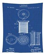Thread Spool Patent 1877 Blueprint Tapestry