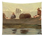 Three Boys In A Dory Tapestry