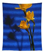 Three Cheers - Yellow Daffodils In A Red Bowl Tapestry