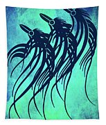 Three Crows Contemporary Minmalism Tapestry