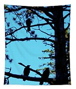 Three Crows In A Tree Tapestry