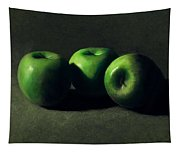 Three Green Apples Tapestry