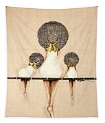 Three Ladies On A Dock  Tapestry