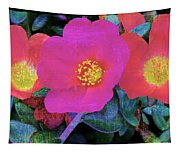 Three Lovely Flowers Tapestry
