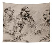 Three Men Chatting Tapestry