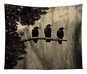 Three Ravens Branch Out Tapestry